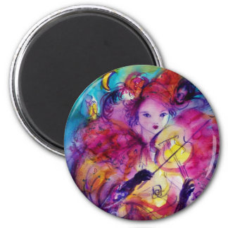 MASQUERADE NIGHT / Venetian Carnival 2 Inch Round Magnet