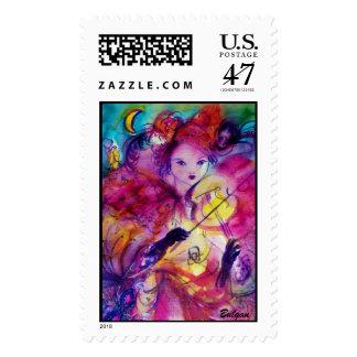 MASQUERADE NIGHT / Venetian Carnival Night Postage Stamp
