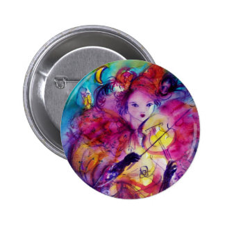 MASQUERADE NIGHT / Venetian Carnival Pinback Button