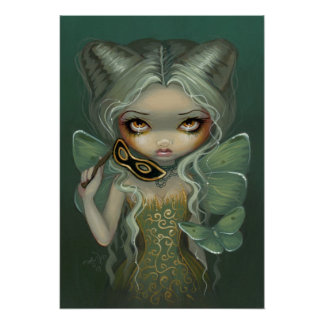 Masquerade of Moths ART PRINT butterfly rococo