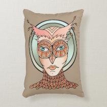 Masquerade Owl Accent Pillow