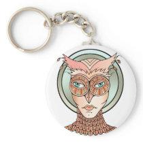 Masquerade Owl Keychain