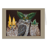 Masquerade owls card