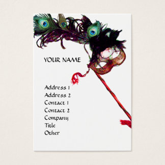 MASQUERADE PARTY BUSINESS CARD