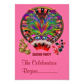 Masquerade Party Casino Card