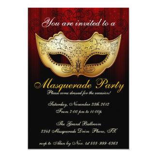 Masquerade Invitations & Announcements | Zazzle