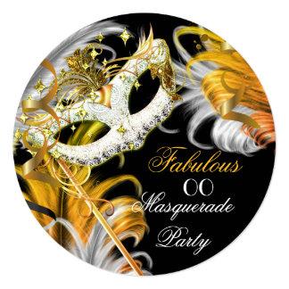 Masquerade Party Fabulous Birthday Gold Silver 2 Card