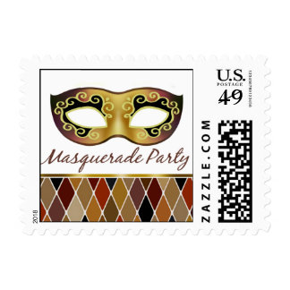Masquerade Party Harlequin   bronze Postage