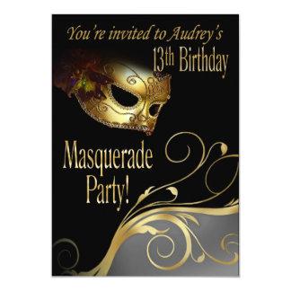 Masquerade Party Invitation for Audrey