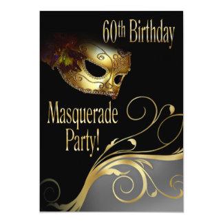 """Masquerade Party Invitation for Norma 5"""" X 7"""" Invitation Card"""