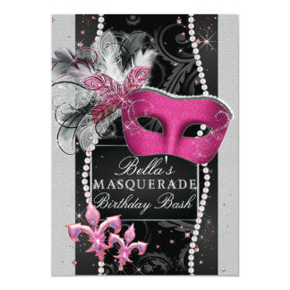 Masquerade Party Invitations, Mis Quince Anos Card