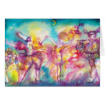 MASQUERADE PARTY,Mardi Gras Masks,Dance,Music Greeting Card