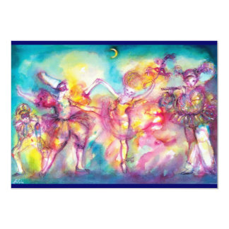 MASQUERADE PARTY,Mardi Gras Masks,Dance,Music Card