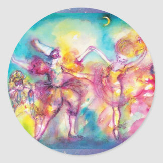 MASQUERADE PARTY,Mardi Gras Masks,Dance,Music Classic Round Sticker