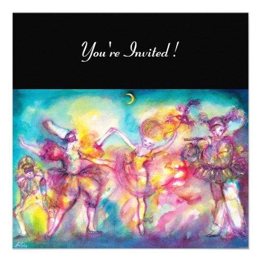 MASQUERADE PARTY,Mardi Gras Masks,Dance,Music Personalized Invite