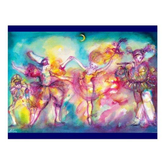 MASQUERADE PARTY,Mardi Gras Masks,Dance,Music Postcard