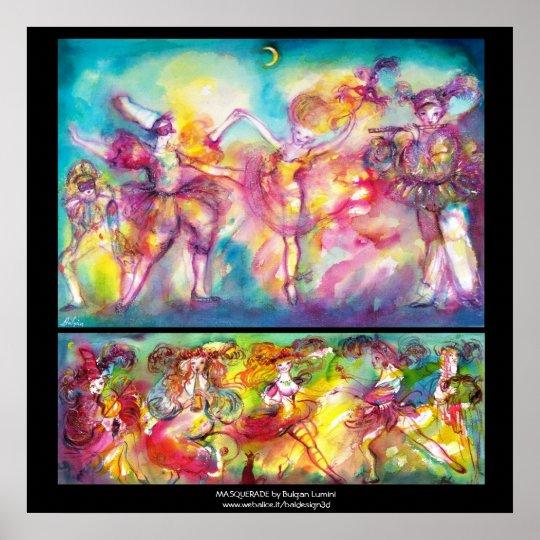 MASQUERADE PARTY,Mardi Gras Masks,Dance,Music Poster