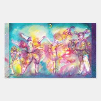MASQUERADE PARTY,Mardi Gras Masks,Dance,Music Rectangular Sticker