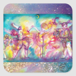 MASQUERADE PARTY,Mardi Gras Masks,Dance,Music Square Sticker