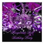 Masquerade Party Mask Spider Purple Gothic Invitation