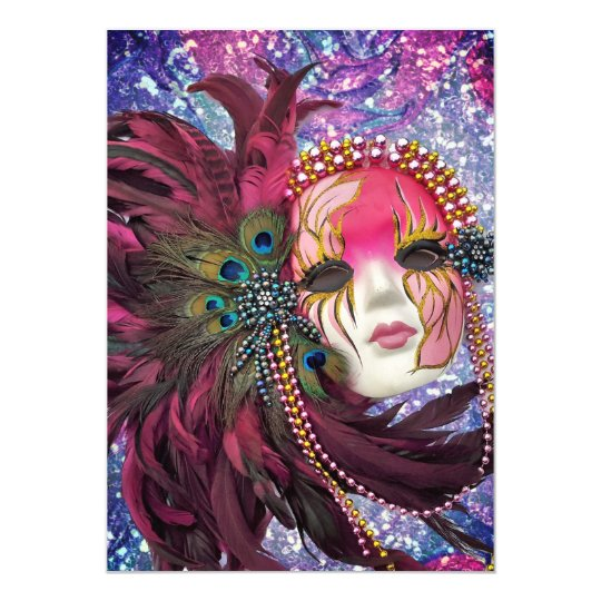 masquerade party new years eve quinceanera invitation
