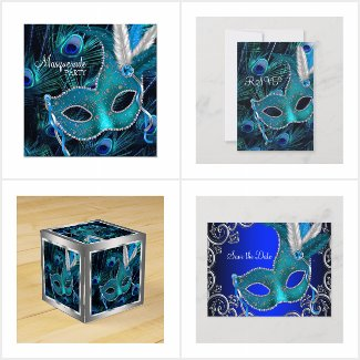 Masquerade Party Peacock Blue