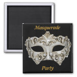 Masquerade Party Save the Date Magnet Fridge Magnets
