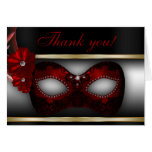 Masquerade Party Thank You Note Greeting Cards