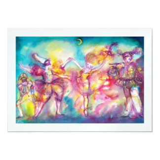 MASQUERADE PARTY, white ice metallic Card
