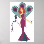 Masquerade Peacock Print