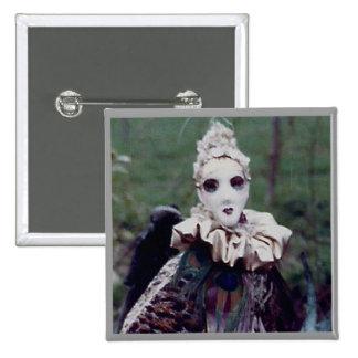 Masquerade portrait pin