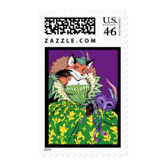 Masquerade Postage Stamp