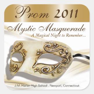 Masquerade Prom 2011 Party Sticker