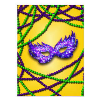 Masquerade Purple Mask Photographic Print