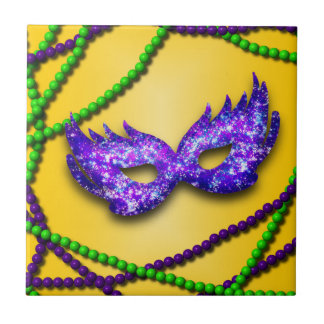 Masquerade Purple Mask Tile