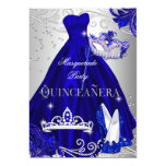 Masquerade Quinceanera Blue Silver Dress Heels Card