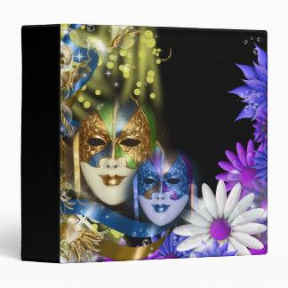 "Masquerade quinceanera Venetian masks 1.5"" Binder"
