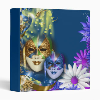 "Masquerade quinceanera Venetian masks 1"" Binder"
