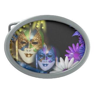 Masquerade quinceanera Venetian masks Oval Belt Buckles
