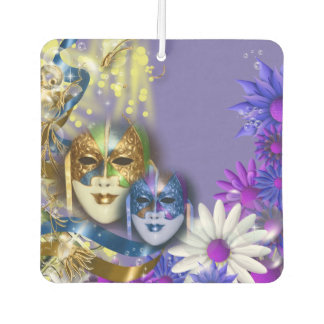 Masquerade quinceanera Venetian masks Car Air Freshener