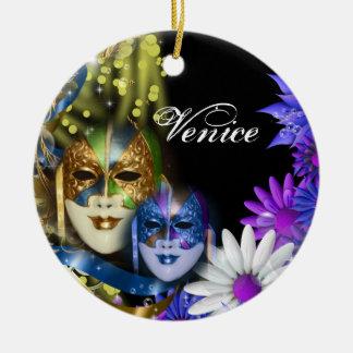 Masquerade quinceanera Venetian masks Ceramic Ornament