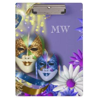 Masquerade quinceanera Venetian masks Clipboard