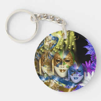 Masquerade quinceanera Venetian masks Acrylic Key Chain