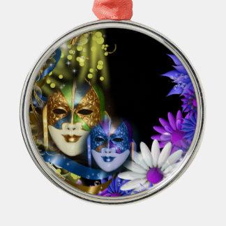 Masquerade quinceanera Venetian masks Metal Ornament
