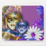 Masquerade quinceanera Venetian masks Mouse Pad