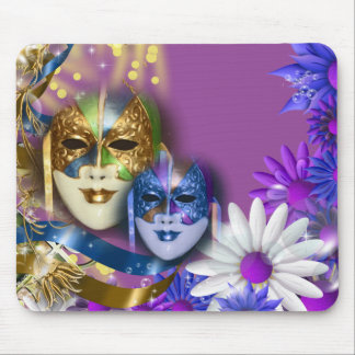 Masquerade quinceanera Venetian masks Mouse Pad
