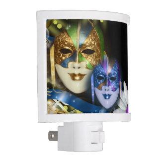 Masquerade quinceanera Venetian masks Night Light