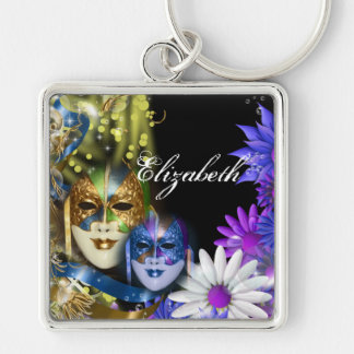 Masquerade quinceanera Venetian masks PERSONALIZE Key Chains