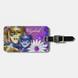 Masquerade quinceanera Venetian masks PERSONALIZE Luggage Tag