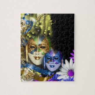 Masquerade quinceanera Venetian masks Jigsaw Puzzles